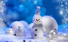 Christmas Snowman wallpaper by ____S