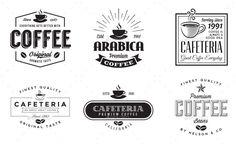 12 Retro Vintage Coffee Logo