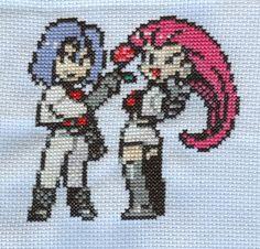 X-Stitch Fanart- Team Rocket by ~missy-tannenbaum on deviantART