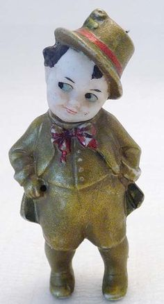 Antique Porcelain Penny Doll Boy Kewpie  Learn about your collectibles, antiques, valuables, and vintage items from licensed appraisers, auctioneers, and experts http://www.bluevaultsecure.com/roadshow-events.php