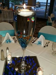 Champagne Glass Centerpiece In 2019 Wedding Decorations Glass Centerpieces Wine Glass