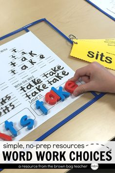 Word Work is a critical part of teaching children to read. Students need repeated practice and exposure to high-frequency words and phonics patterns. The activities in this resource will keep students practicing while keeping the novelty alive.