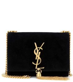 Classic Small Monogramme black suede shoulder bag