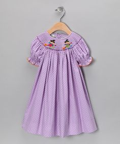 Take a look at this Purple Witch Bishop Dress - Infant, Toddler & Girls on zulily today!