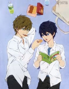 MakoHaru ♡ Makoto Tachibana x Haruka Nanase (Free! Dive to the Future and High☆Speed! Free Eternal Summer, Makoto Tachibana, Makoharu, Swimming Anime, Splash Free, Free Iwatobi Swim Club, Kyoto Animation, Free Anime, Another Anime