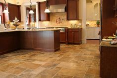 travertine kitchen floors | Travertine pros: Wildly variable patterns and colors, feels soft ...