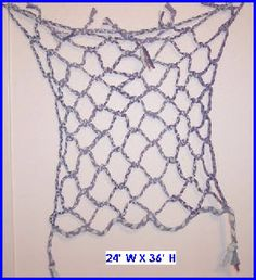 how to turn 4 old t-shirts into this climbing net (2' x 3')