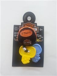 Harley-Davidson baby motorcycle keys teething ring with motorcycle sounds - perfect gift for baby! This and other Harley baby gifts and clothing available at Leather Bound Online. Baby Shower Motorcycle, Motorcycle Baby, Biker Baby, Motorcycle Nursery, Baby Momma, Mom And Baby, Redneck Baby, Kate Baby, Baby On The Way