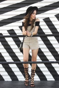 FashionCoolture - 29.06.2016 look du jour black and white stripes summer Miami (7)