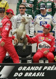 Since moving to its current end of season slot in the Brazilian Grand Prix has produced no shortage of drama as Sportsmail looks back at some of our favourite images around Interlagos. Michael Schumacher, Mick Schumacher, Alain Prost, F1 Motorsport, David Coulthard, Brazilian Grand Prix, Ferrari Racing, Gilles Villeneuve, Nico Rosberg