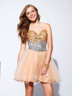 Short dress with jeweled bodice