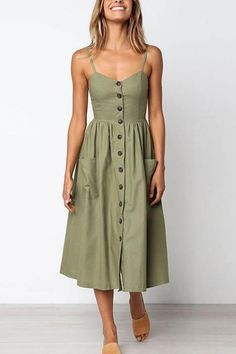 Frigirl Vintage Single-Breasted Calf Dress