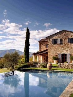 Castello di Reschio, Italy   The infinity pool overlooks ancient mulberry tree groves and fragrant lavender fields