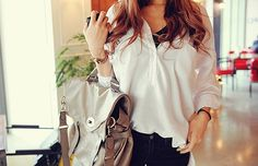bag, beautiful, clothes, fashion, girl, hair, iphone, outfit, phone, pretty, style