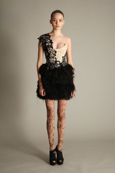 Georgina Chapman never disappoints me, I've adored her collection since she and Keren Craig began in 2004. The delicate lace, soft satin and the tattooed legs (are they stockings?