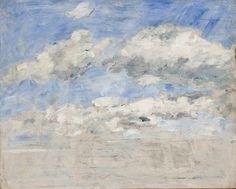 Musée Malraux / MuMa, Le Havre : Etude de ciel d'Eugène Boudin – 1886-95