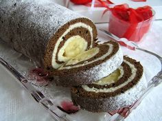 V jednoduchosti je krása a samozřejmě i chuť! Banánové rolády jsou nejlepší.d dde Albanian Recipes, Slovak Recipes, European Dishes, Cake Roll Recipes, Kolaci I Torte, 3d Cakes, Noel Christmas, No Bake Cake, Just Desserts