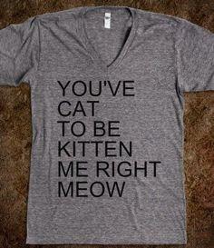 you've gotta be kitten me right meow shirt - Google Search
