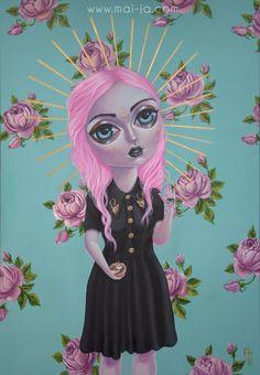"""""""Cult Leader"""", 2014 Acrylic on canvas 70 x 100 cm"""