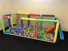 pit in the basement., Ball pit in the basement., Ball pit in the basement. Kids Play Area, Kids Room, Play Areas, Diy For Kids, Crafts For Kids, Best Kids Toys, Toy Rooms, Toddler Activities, Kids And Parenting