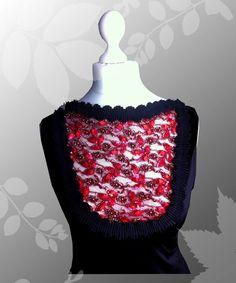 Cocktailkleider - *OktoberNacht* Stretchkleid mit Spitzeneinsatz - ein Designerstück von Lady-Mabelicious bei DaWanda