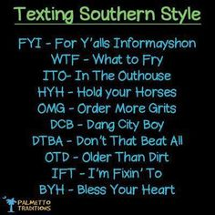Texting southern style