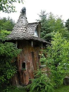 I want to live in a real life fairy tale, here is my forest cottage... I am a good witch...