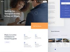Shiply landing page designed by Martin Strba for Balkan Brothers. Connect with them on Dribbble; the global community for designers and creative professionals. Web Design, Homepage Design, Pisa, City C, Template Site, Important Facts, Square Photos, Landing Page Design, Flash Photography