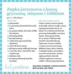Przepisy dla niemowlaka - Zupki dla niemowlaka | Strona 13 | Baby online 1 Year Old Meals, Baby Eating, Kids And Parenting, Baby Food Recipes, Food And Drink, Baby Boy, Cooking, Healthy, Cook