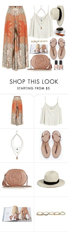 """Boho way"" by monmondefou ❤ liked on Polyvore featuring Etro, H&M, Zara, Gucci, rag & bone, Sole Society, Bobbi Brown Cosmetics, maxiskirt, boho and bohochic"