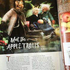 The Fall 2015 issue of Faerie Magazine features my Apple Trolls! Looking good my pretties. #appletroll #appledoll #trollcookbook #faeriemagazine