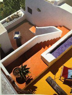 colored terrace