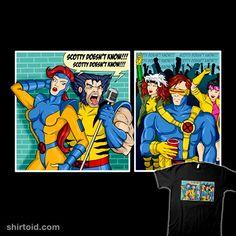 Clueless Scotty t-shirt Scotty T, Day Of The Shirt, Wolverine, Cyclops, Cartoon T Shirts, Jean Grey, Clueless, Rogues, X Men