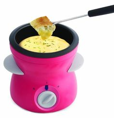 Pink Cheese Fondue set for sharing « Buy Online from thegadgethut.co.uk