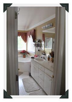 Master Bath has double vanity, walk in shower and garden tub. Walk in closet also in Master Bath.