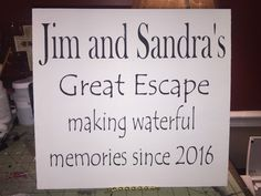 A personal favorite from my Etsy shop https://www.etsy.com/listing/261878113/lake-sign-your-name-great-escape-making