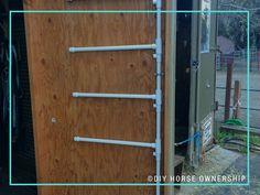 DIY: How to make a swiveling PVC Saddle Pad Rack