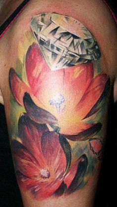 Flowers Tattoo by Tibor Galiger | Tattoo No. 3103