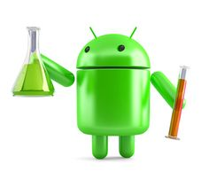 Free stock photo: Android robot with laboratory glassware. Contains clipping path Free Photos, Free Stock Photos, Android, 3d, Illustration, Illustrations
