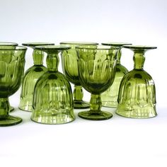 Green depression glasses