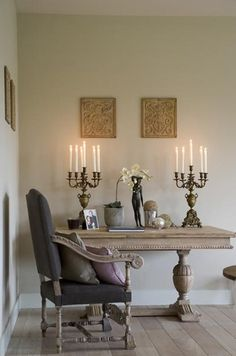 wood table | flooring | chair | paint color  Cornerstone Home Interiors has the chair in a linen color