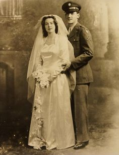 My grandparents on their wedding day. 1942. - Imgur