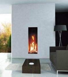 Gas #fireplace insert ROMA by ITALKERO @Italkero
