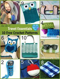 Travel Essentials 10 Free Crochet Patterns. Whether it is a day trip or a long trip, I hope these crochet patterns help you for a great travel experience.