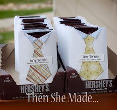 """You're 'Tie'rific"" Craft/Snack - Father's Day Crafts {Simple and Sweet} #fathersday #hersheys #ties #crafts"