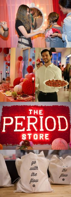A Period-Themed Party That Celebrates Menstruation