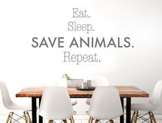 Wall tattoo English sayings ' ' Save animals ' ' Vegan wall sticker lettering animal lover Deco Wall Stickers Animals, Normal Wallpaper, Kitchen Quotes, Wall Tattoo, Blink Of An Eye, Save Animals, Nursery Wall Decals, Room Wall Decor, Free Food