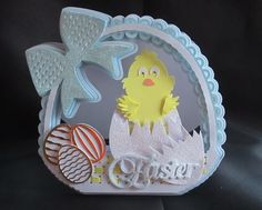 Easter Basket Card TF0080 All formats by Tina Fitch A beautiful fun Easter card that will be well received