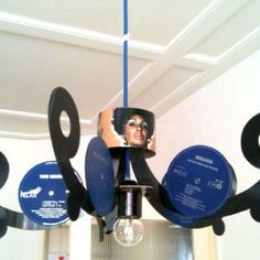 Vinyl Record LP Chandelier