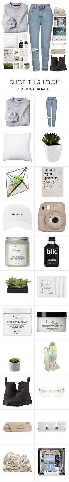 """""""rainy days 🌻"""" by lanadelnotyou ❤ liked on Polyvore featuring Topshop, Fujifilm, Très Pure, Lux-Art Silks, Trish McEvoy, Fresh, philosophy, Dr. Martens, Wildfox and Threshold"""